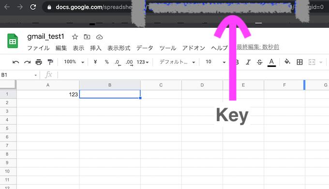 Google Cloud Platform GoogleSheetsAPI  スプレッドシート key URL